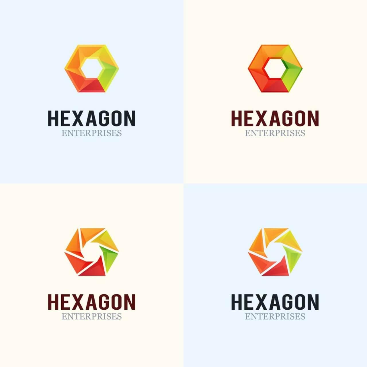 """Free vector """"Hexagon Logo Design"""""""
