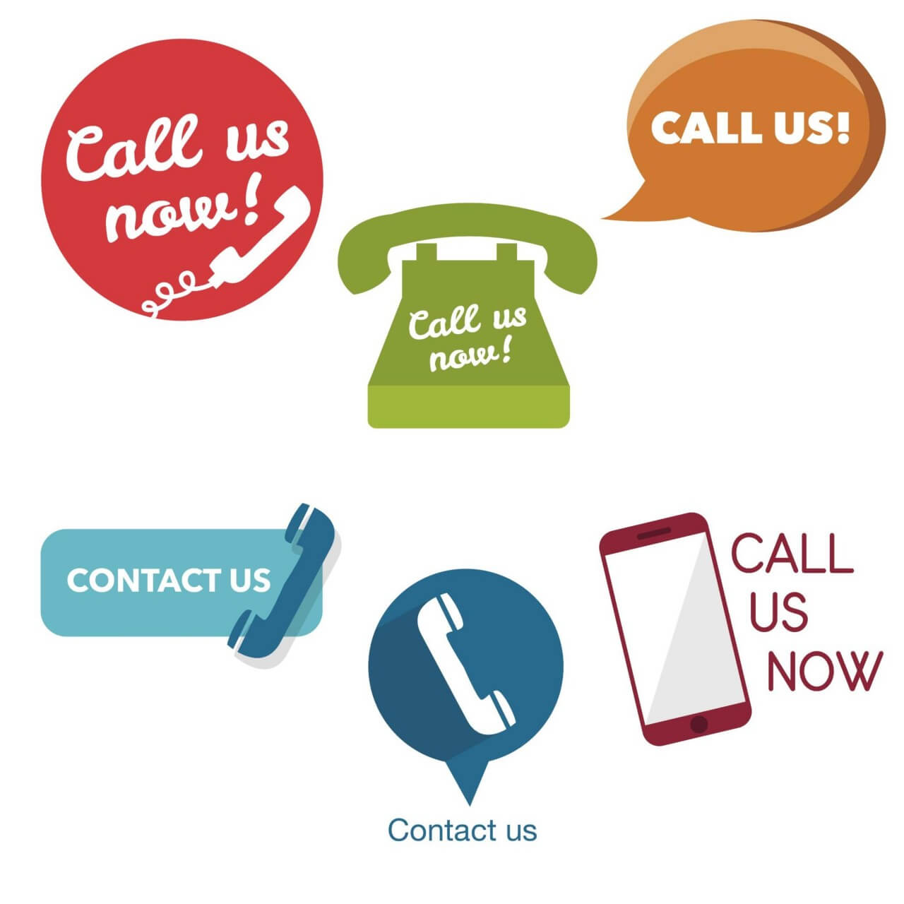 "Free vector ""Call Us Now buttons and icons"""