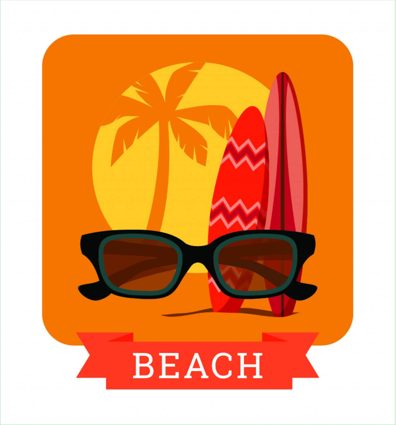 "Free vector ""Summer illustration."""
