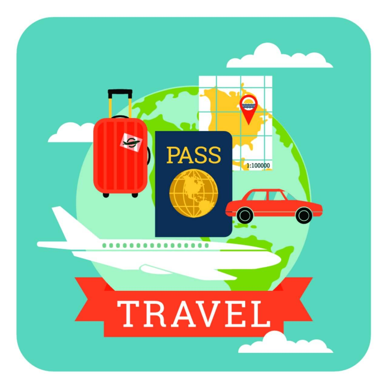 "Free vector ""Travel illustration"""