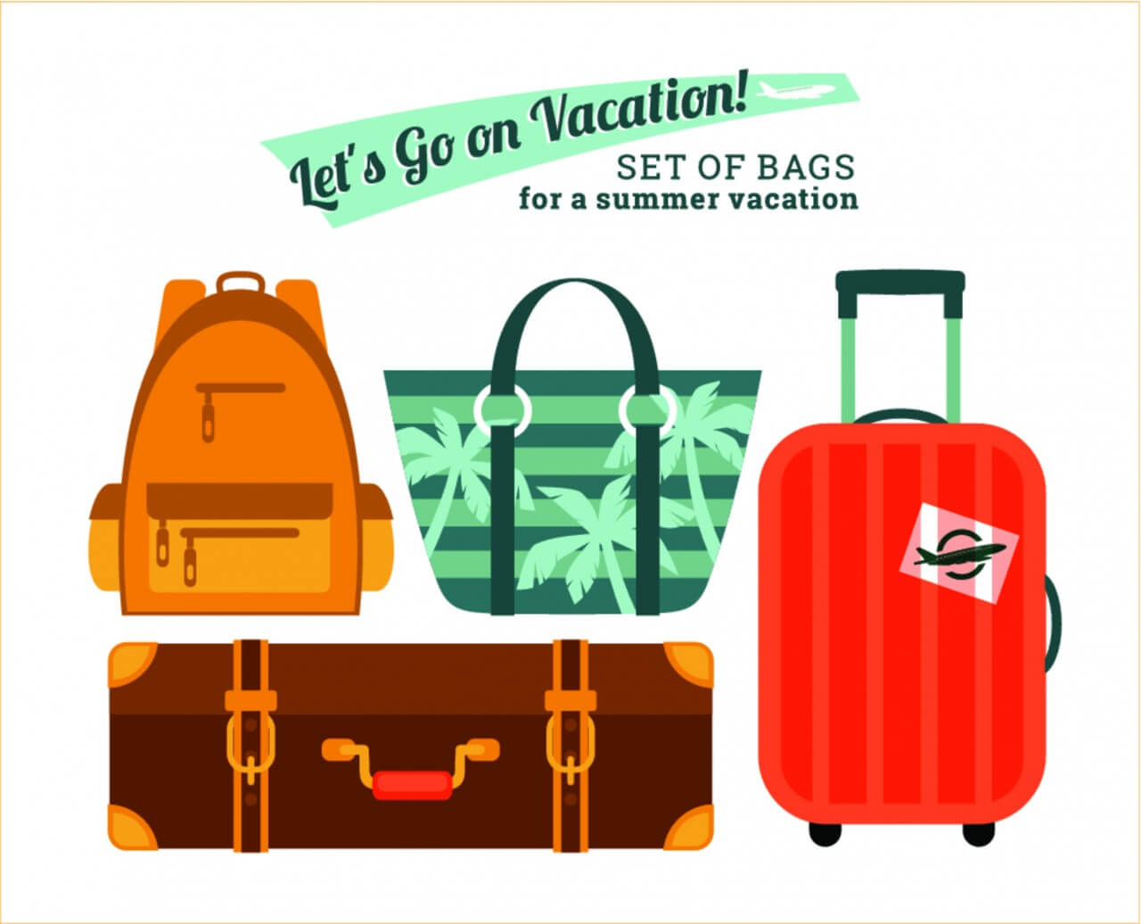 "Free vector ""Illustration bags for holidays"""