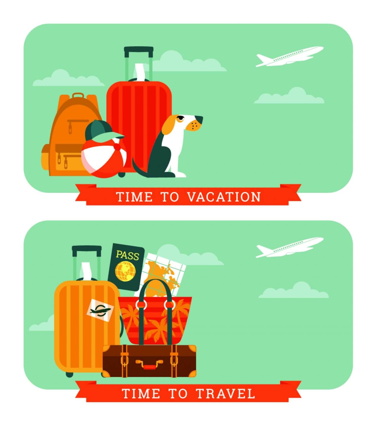 "Free vector ""Travel Illustration."""