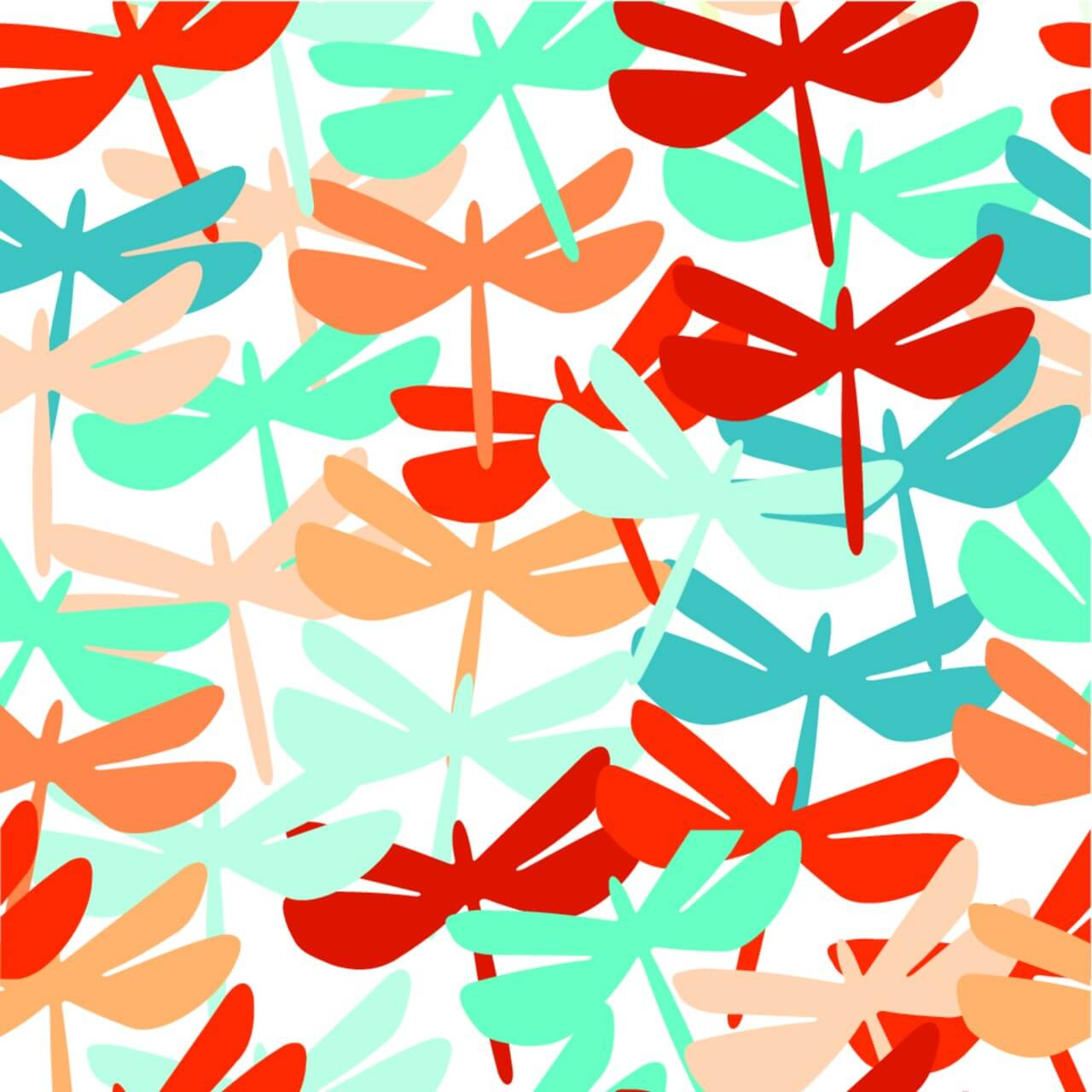 "Free vector ""Summer seamless background with dragonfly."""
