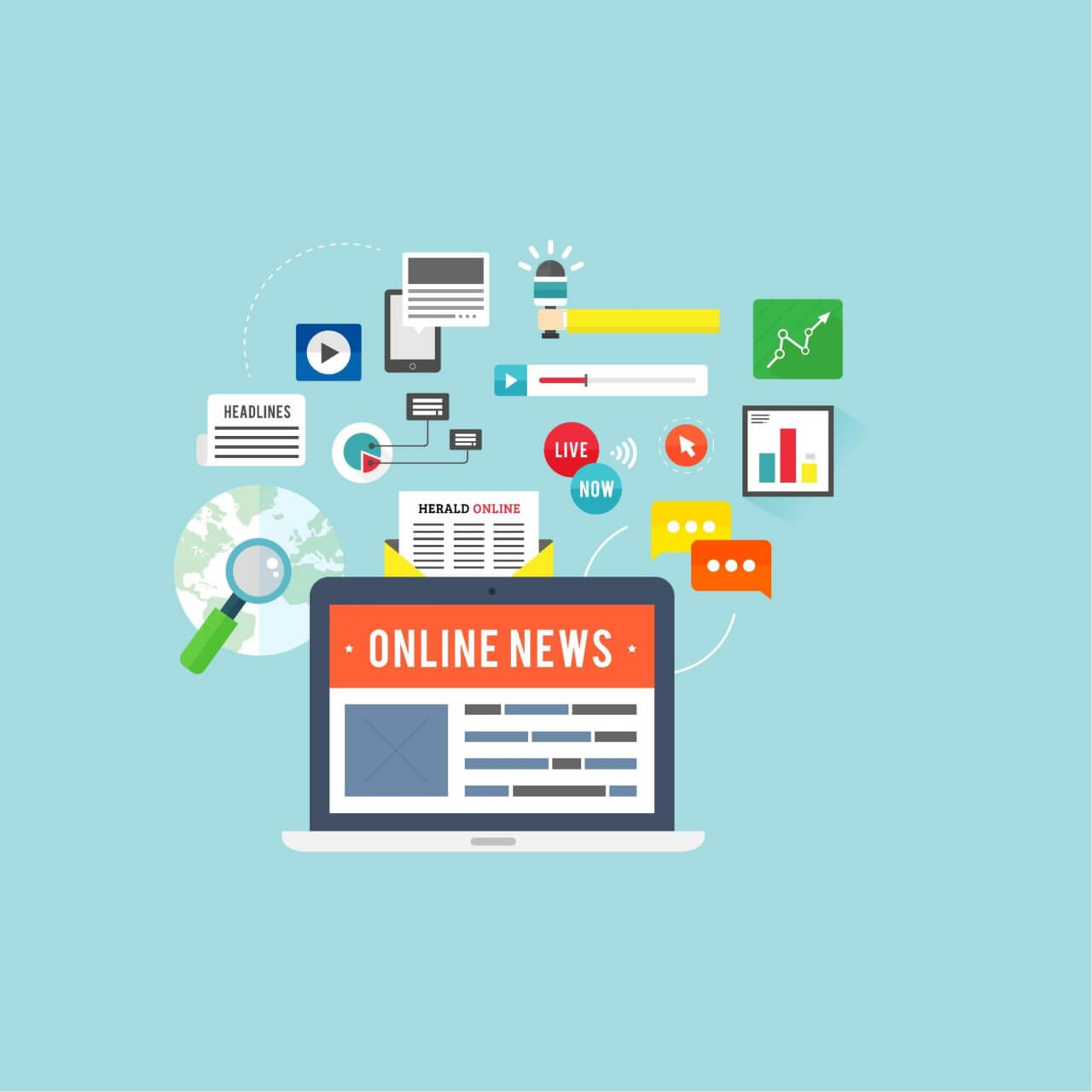 "Free vector ""Online News"""