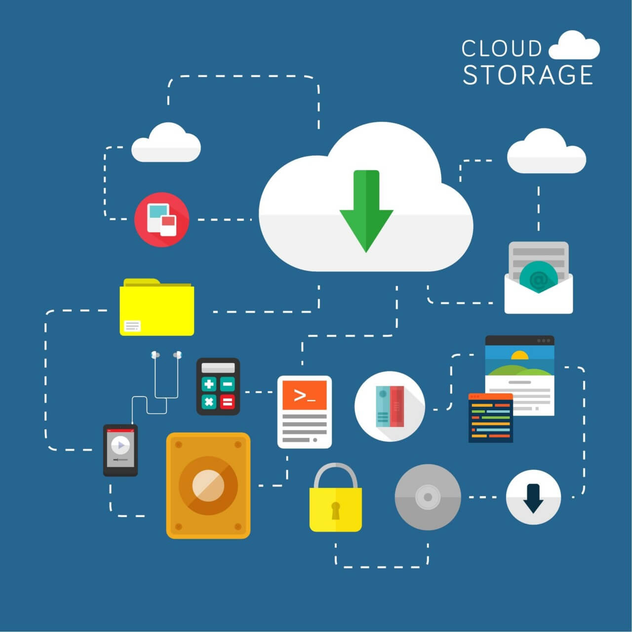 "Free vector ""Cloud Storage"""