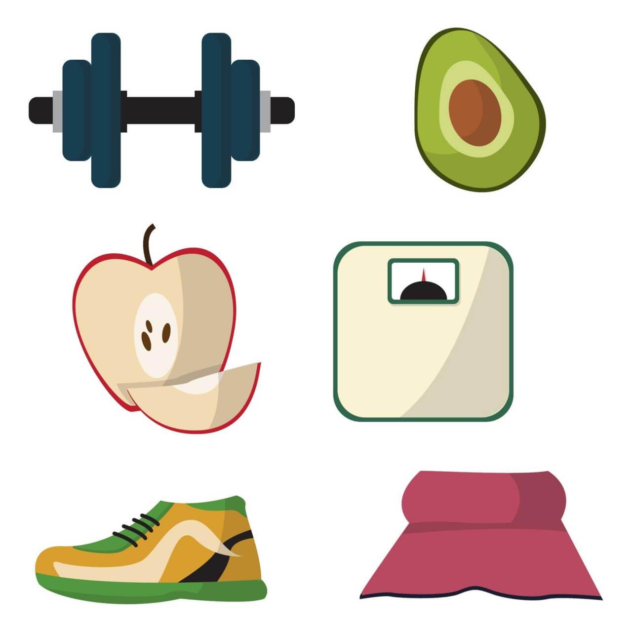 "Free vector ""Healthy lifestyle diet vectors"""