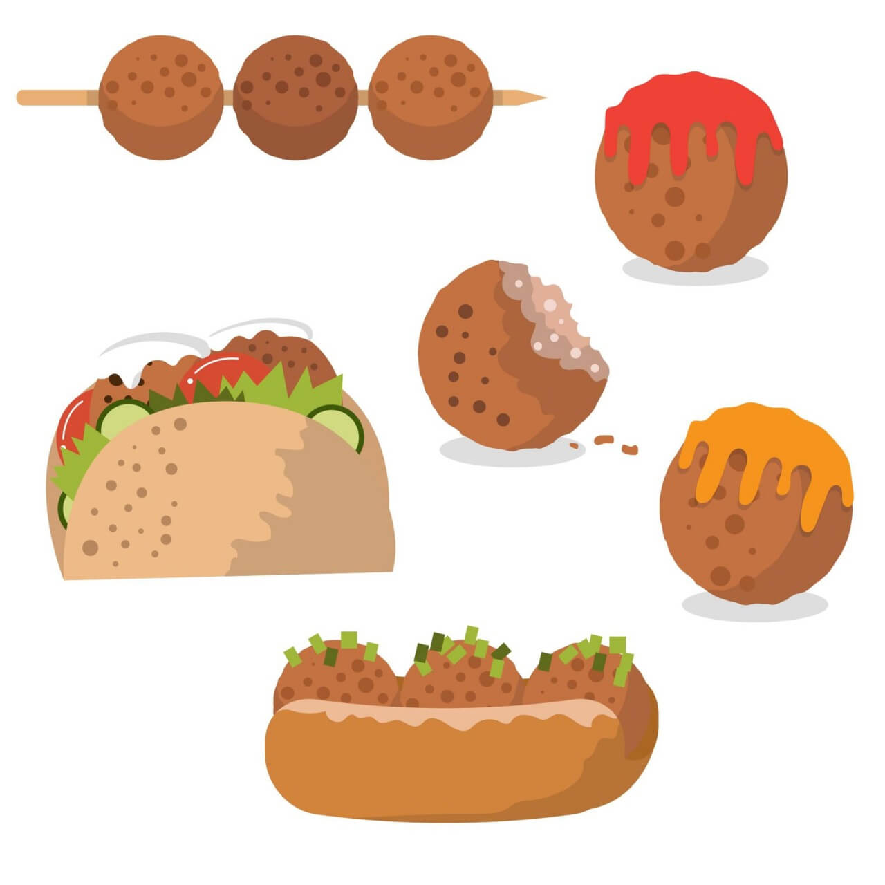 "Free vector ""Tasty meatball vectors"""