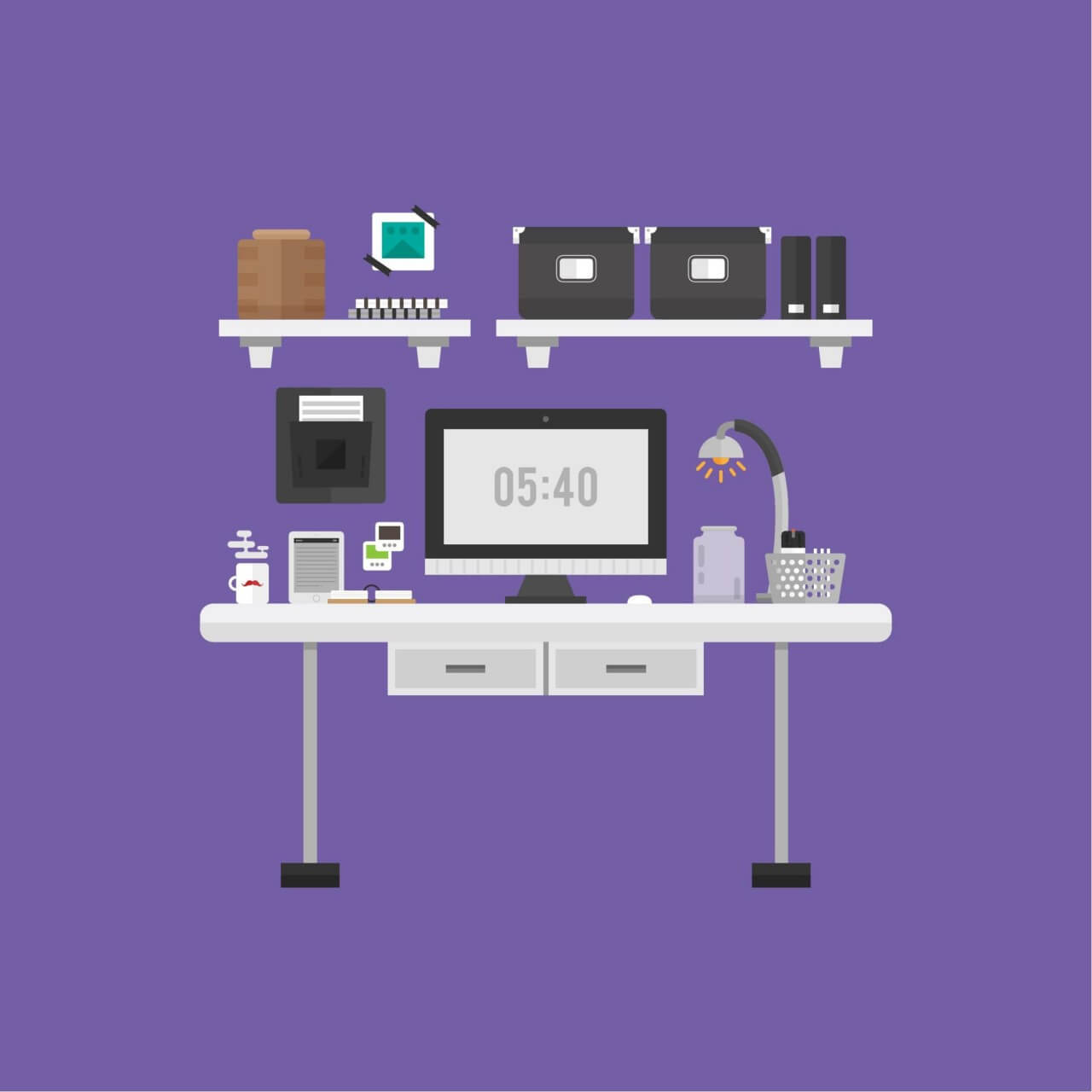 "Free vector ""Modern Workspace"""