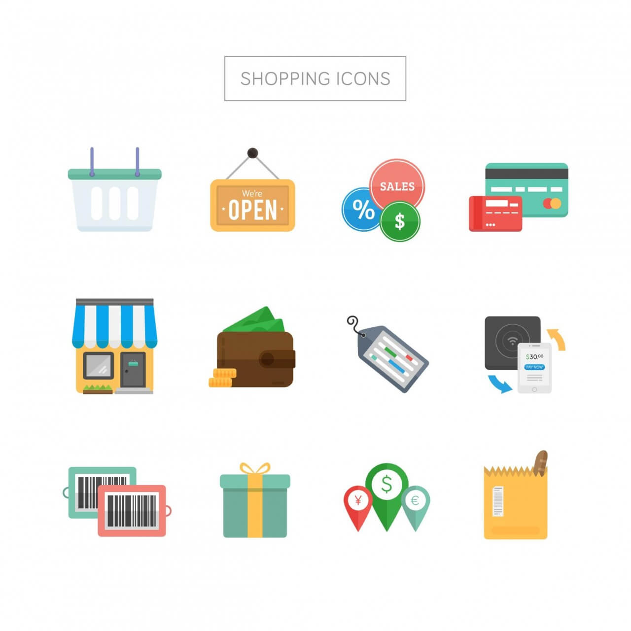 "Free vector ""Shopping Icons"""