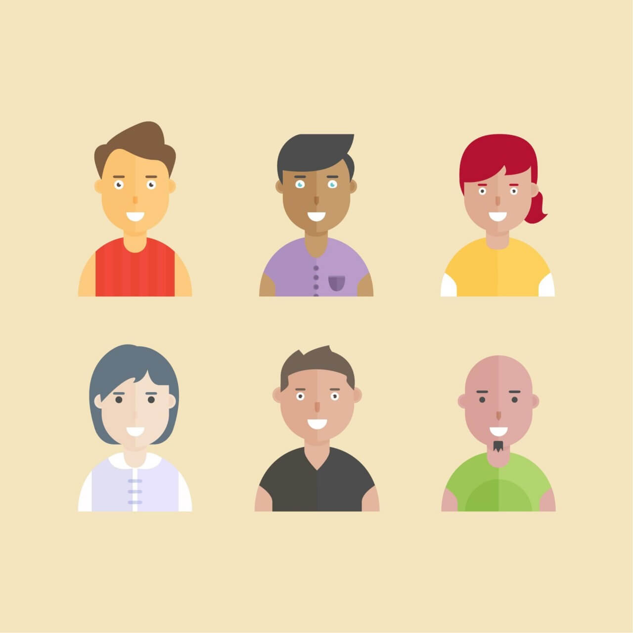 "Free vector ""Smiling People"""