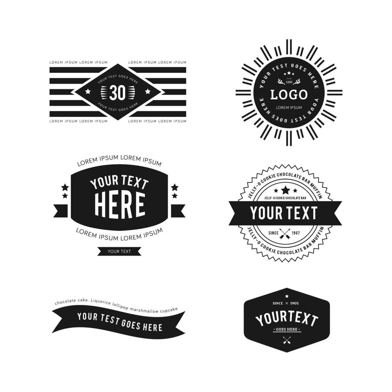 """Free vector """"Vintage Logos"""""""