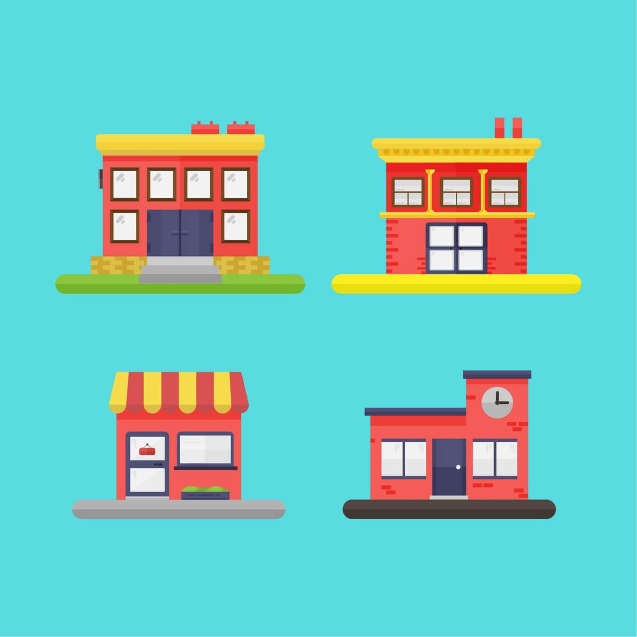 "Free vector ""Building Icons"""