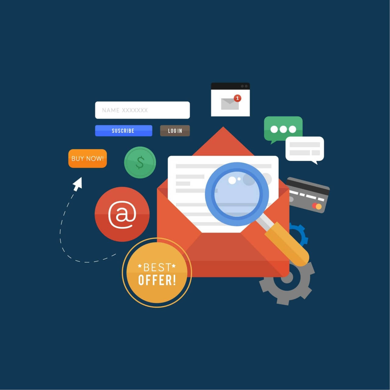 "Free vector ""E-mail Marketing"""