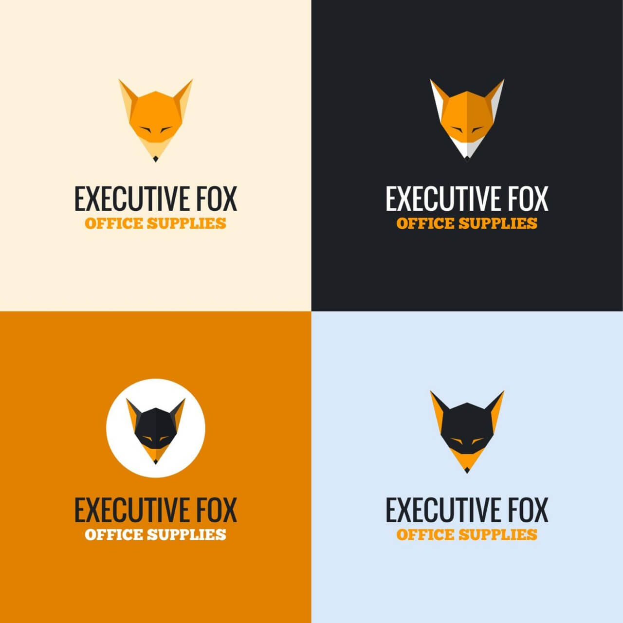"""Free vector """"Executive Fox Logo"""""""
