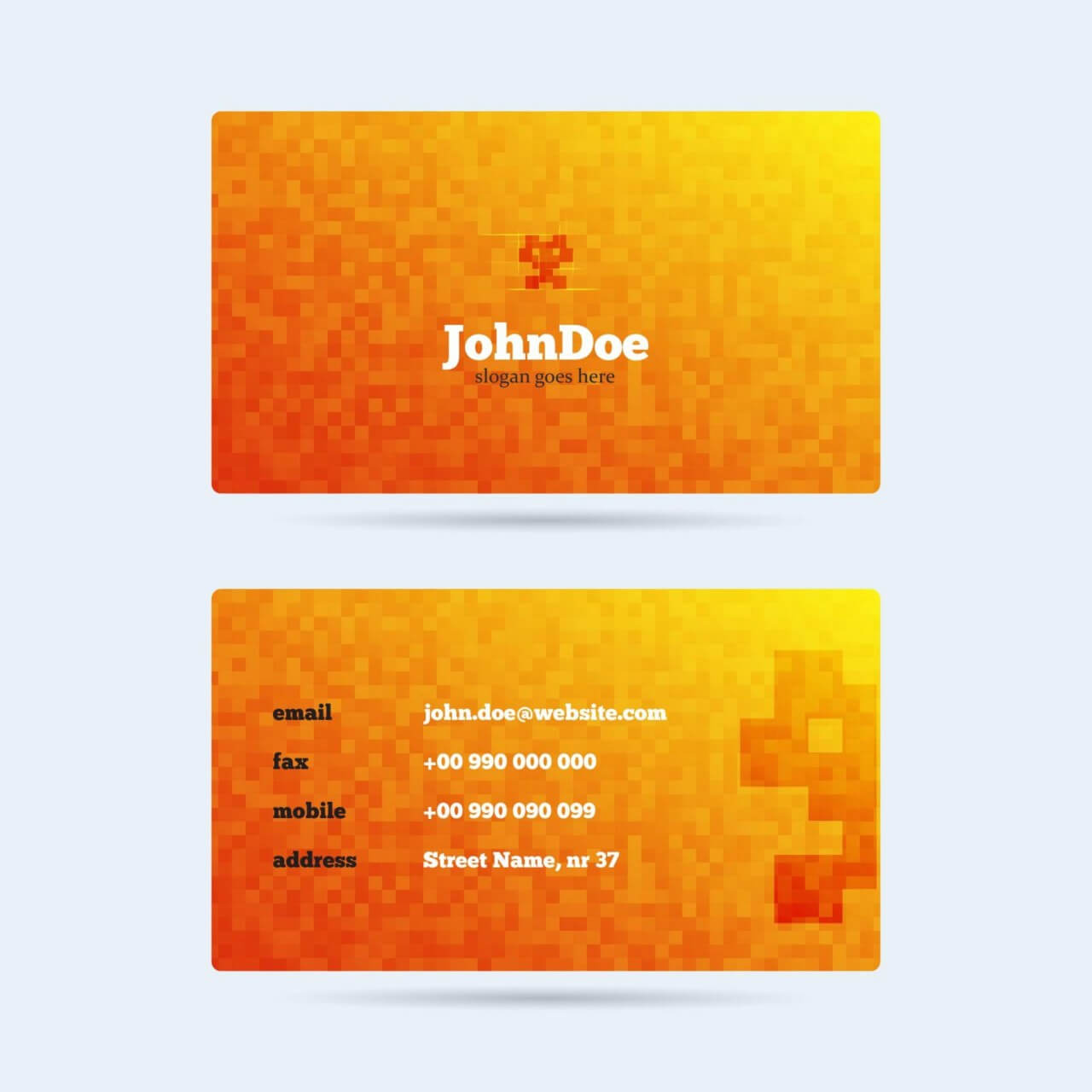 "Free vector ""Pixel Monster Business Card"""