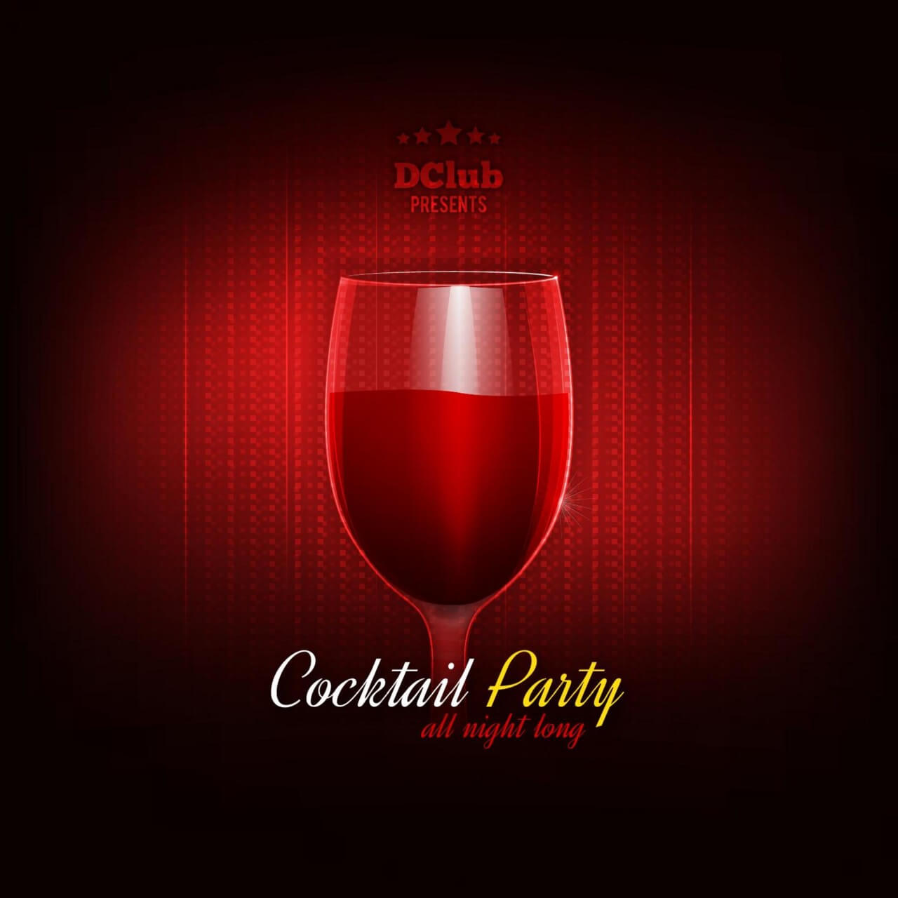 "Free vector ""Cocktail Party Vector Invitation"""