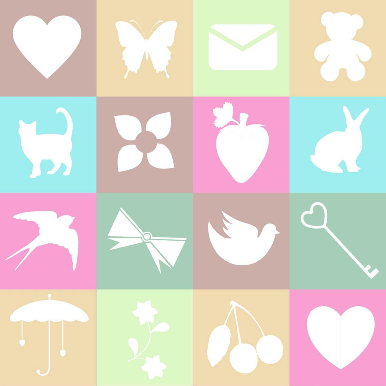 "Free vector ""Cute spring and love elements on metro background"""