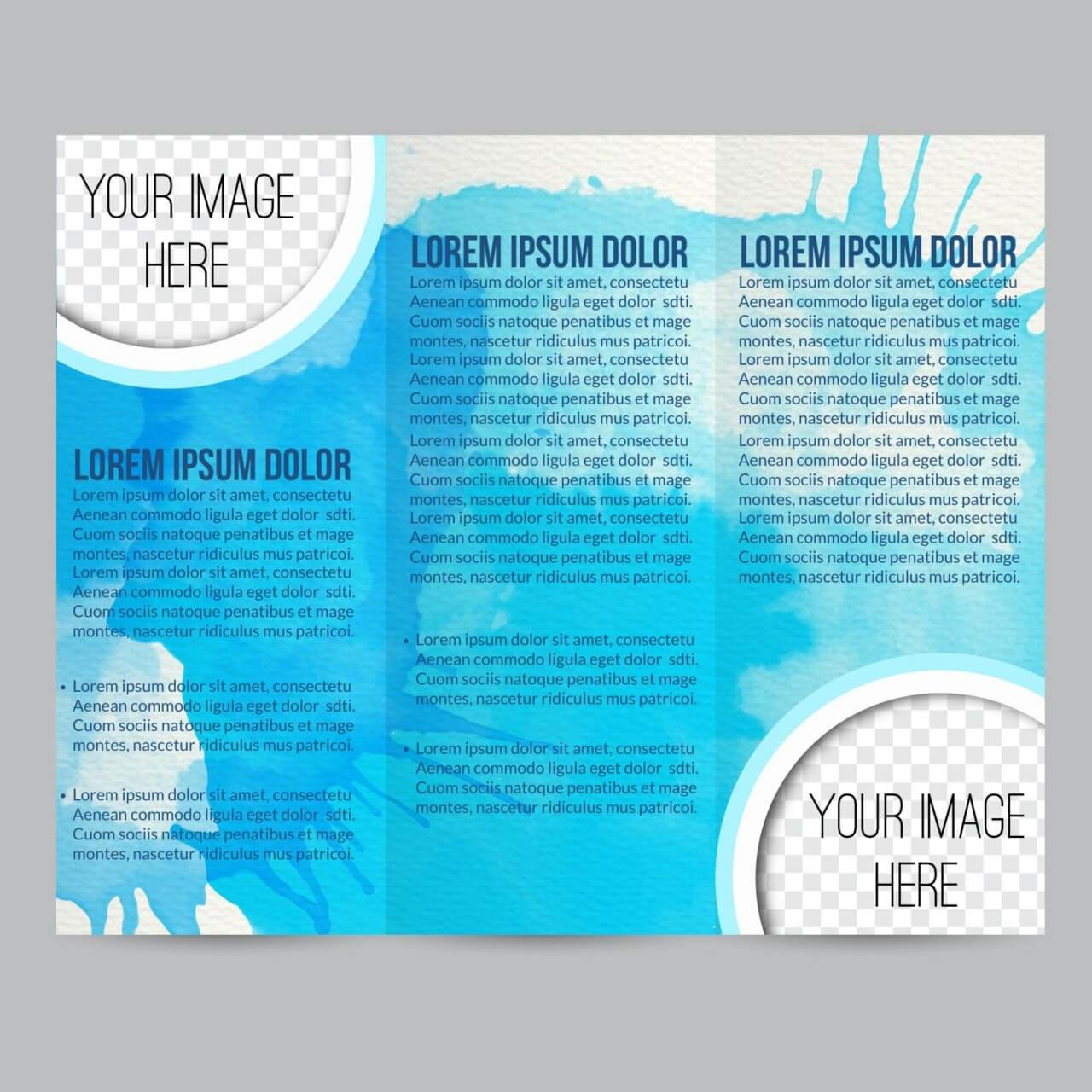 "Free vector ""Watercolor brochure"""