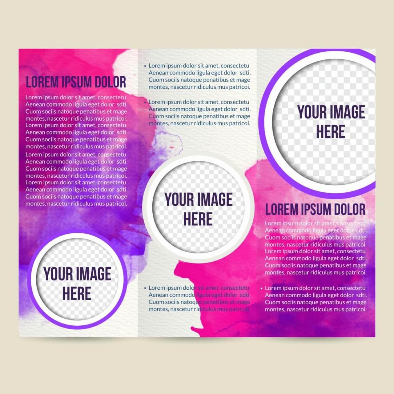 """Free vector """"Watercolor brochure"""""""