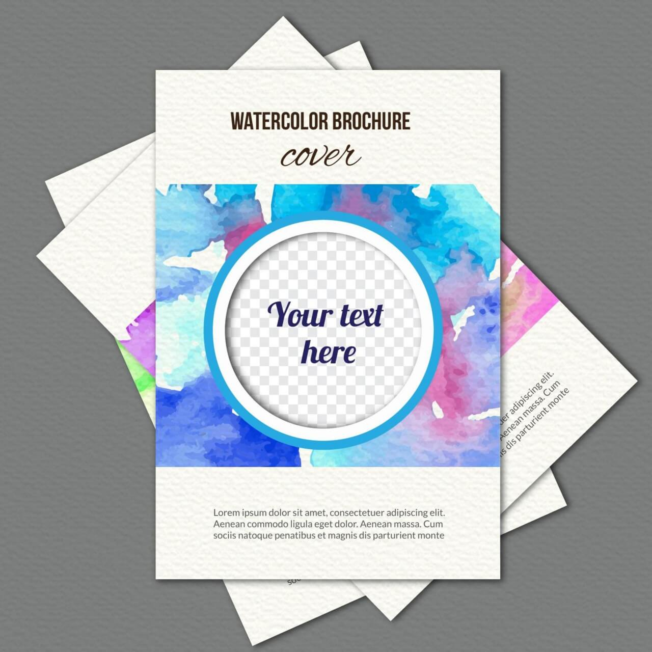 "Free vector ""Watercolor cover"""