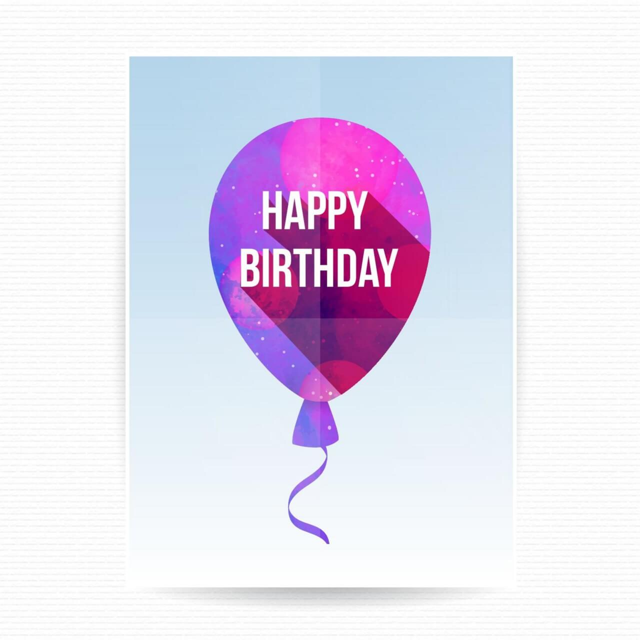 "Free vector ""Happy birthday poster"""