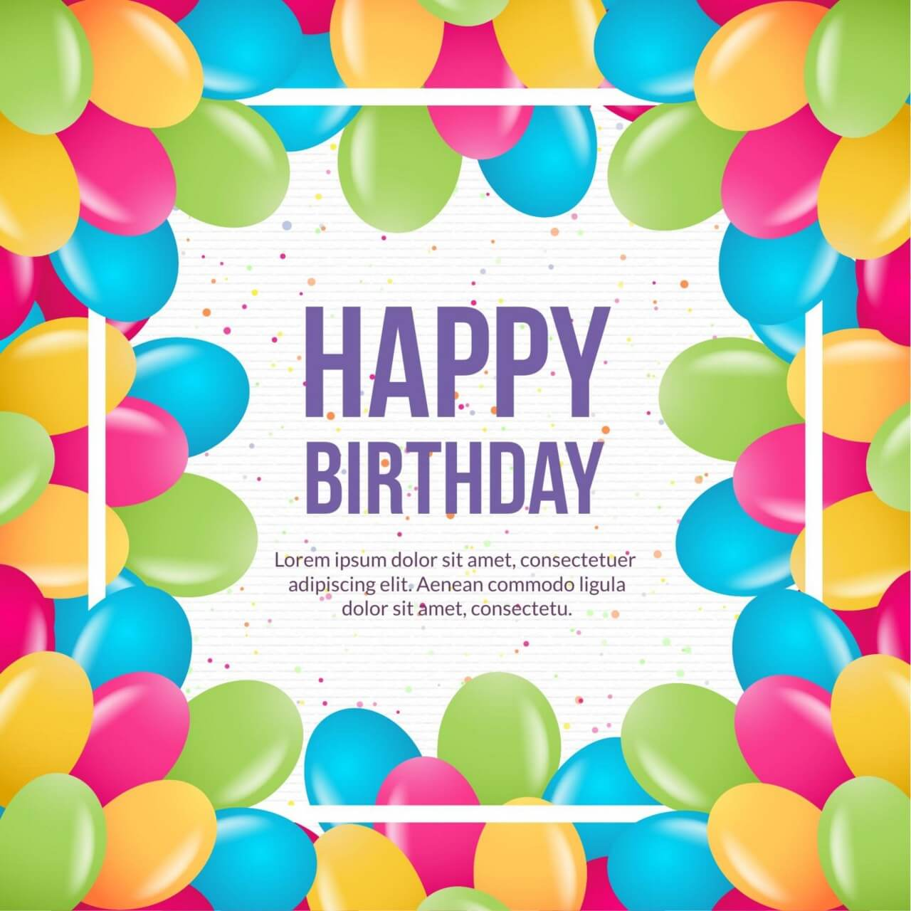 "Free vector ""Happy birthday vector illustration"""