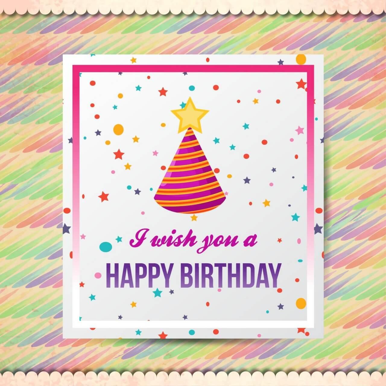"Free vector ""Happy birthday vector illustration"""