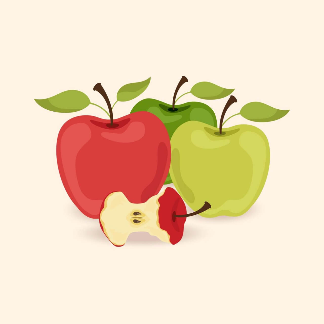 "Free vector ""Vector illustration with apples"""