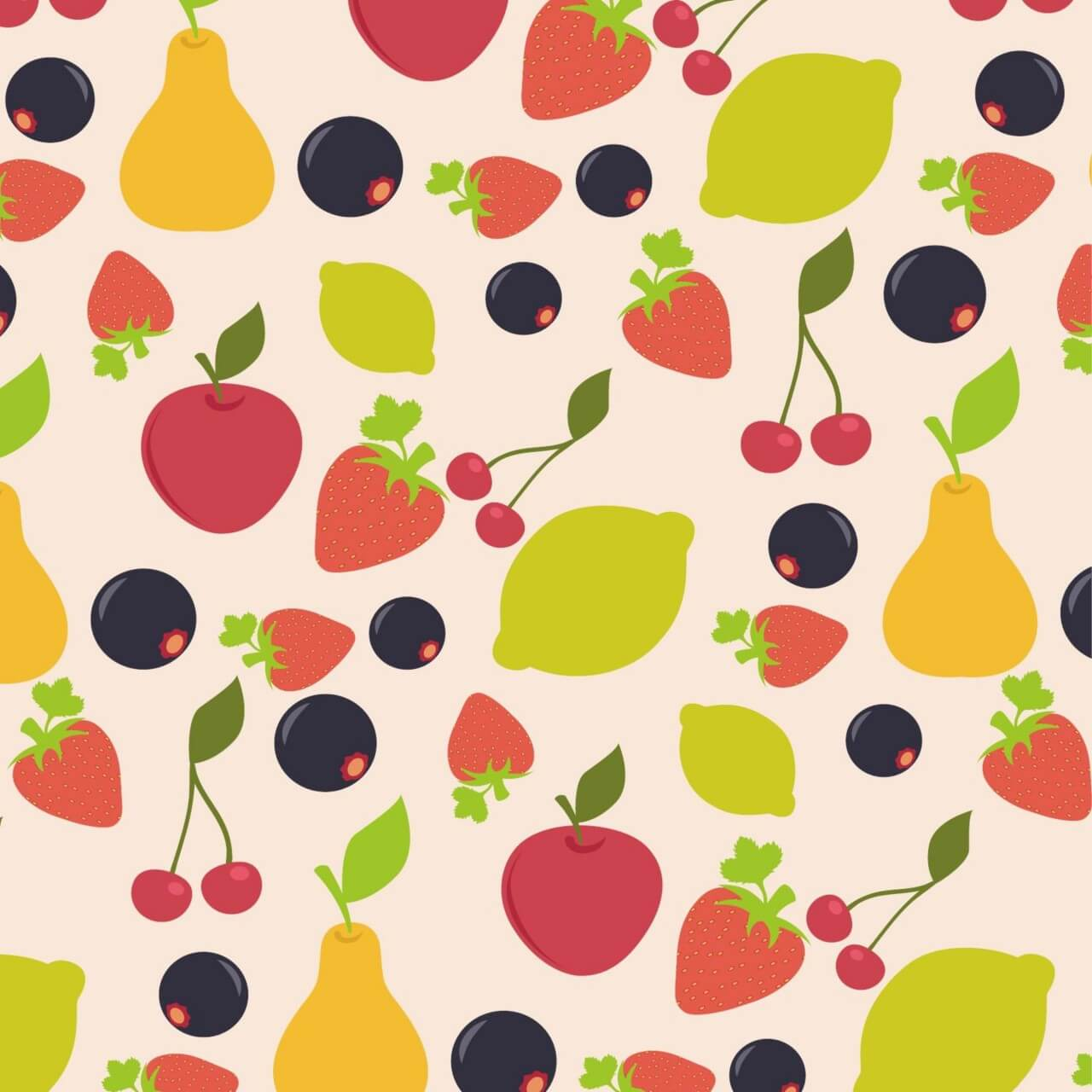 "Free vector ""Food pattern"""