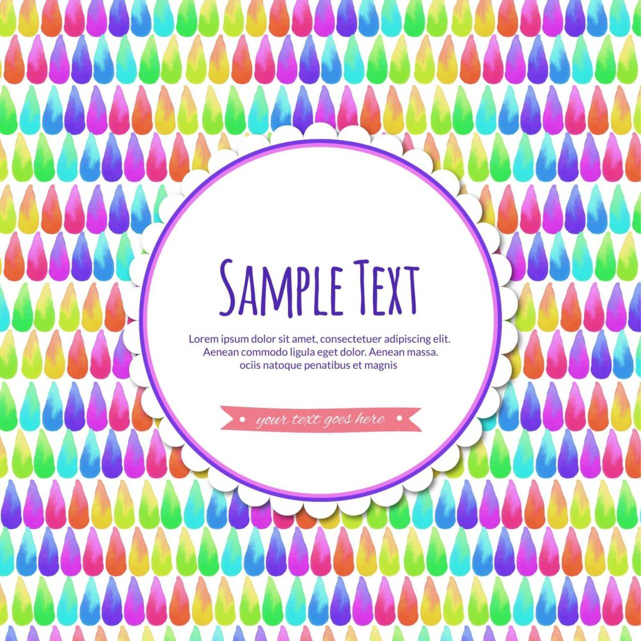 "Free vector ""Watercolor abstract illustration with label"""