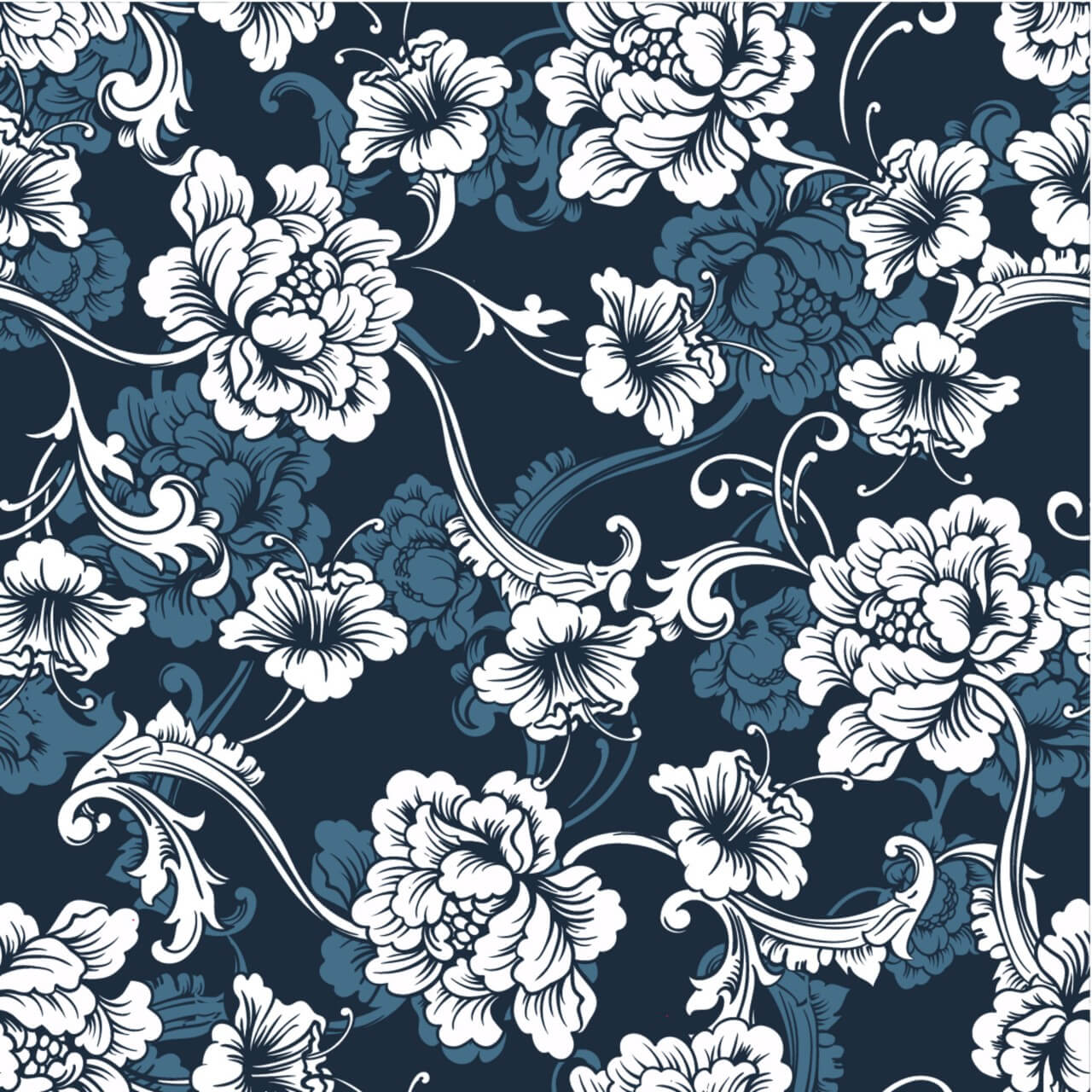 "Free vector ""Seamless vector background. Baroque pattern """