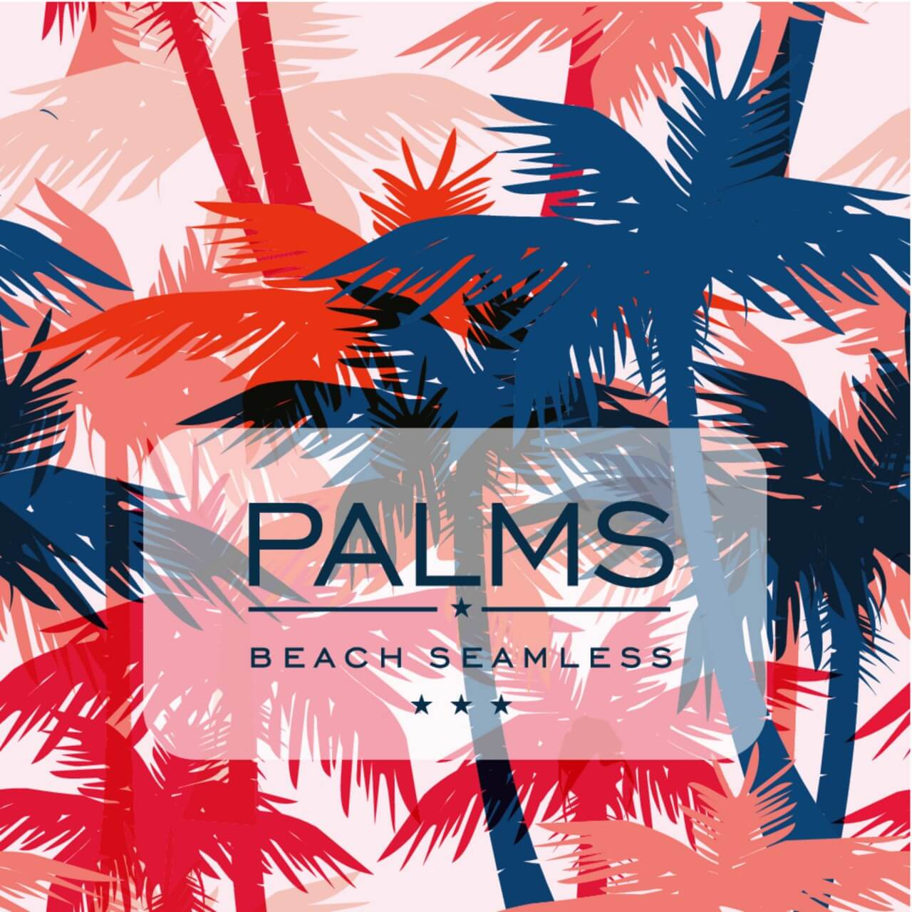 "Free vector ""Vector seamless pattern with palm trees"""