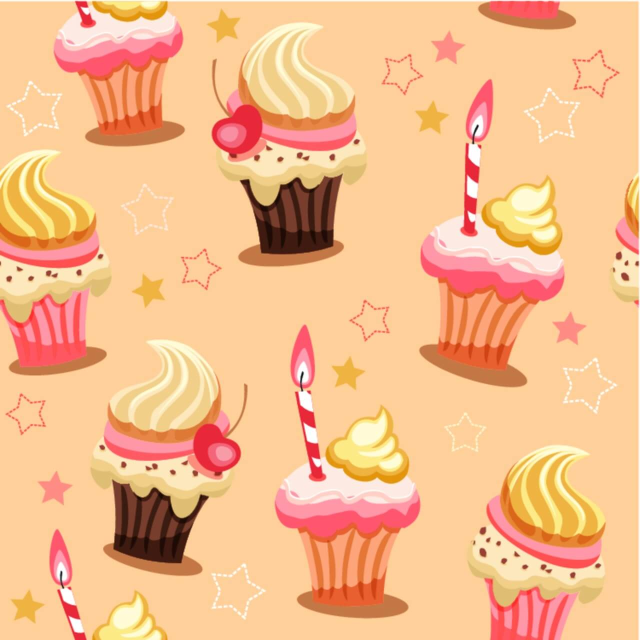 "Free vector ""Sweet seamless background with cakes"""