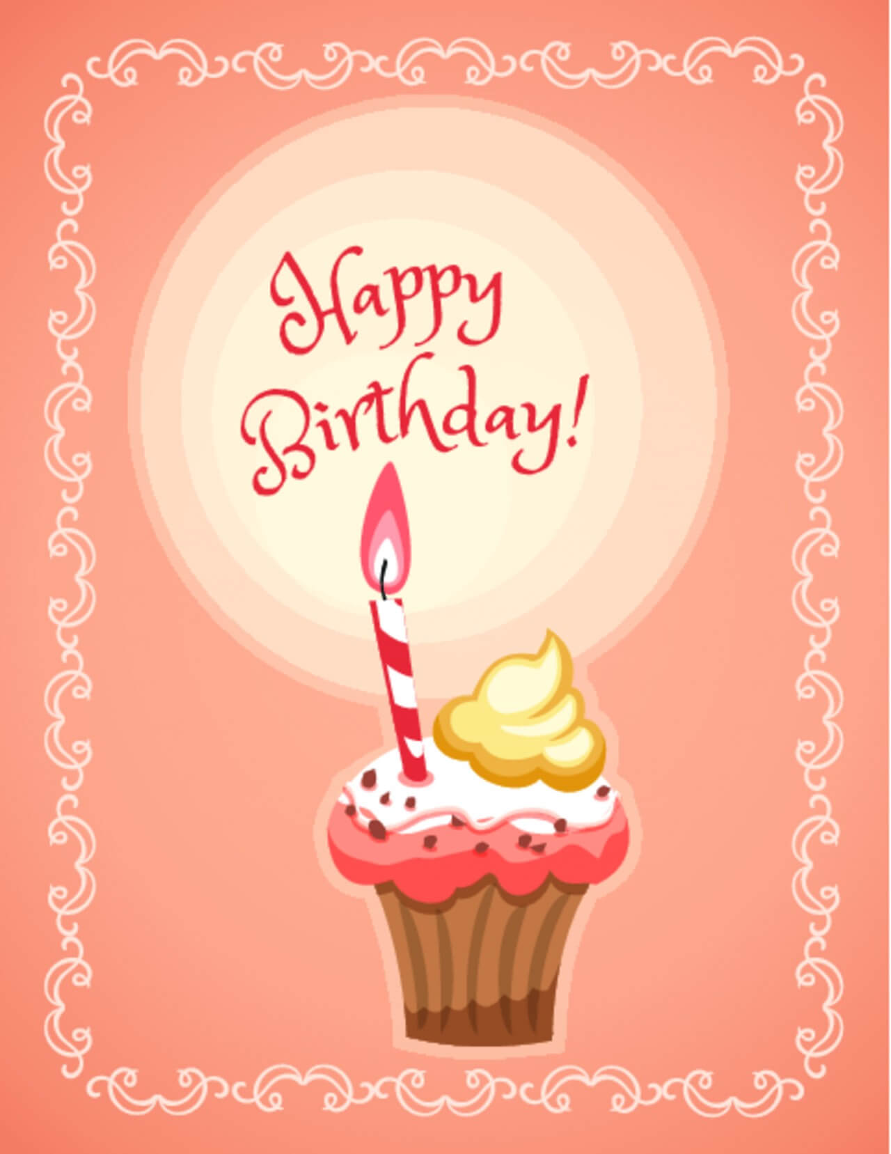 "Free vector ""Happy Birthday illustration with cakes"""
