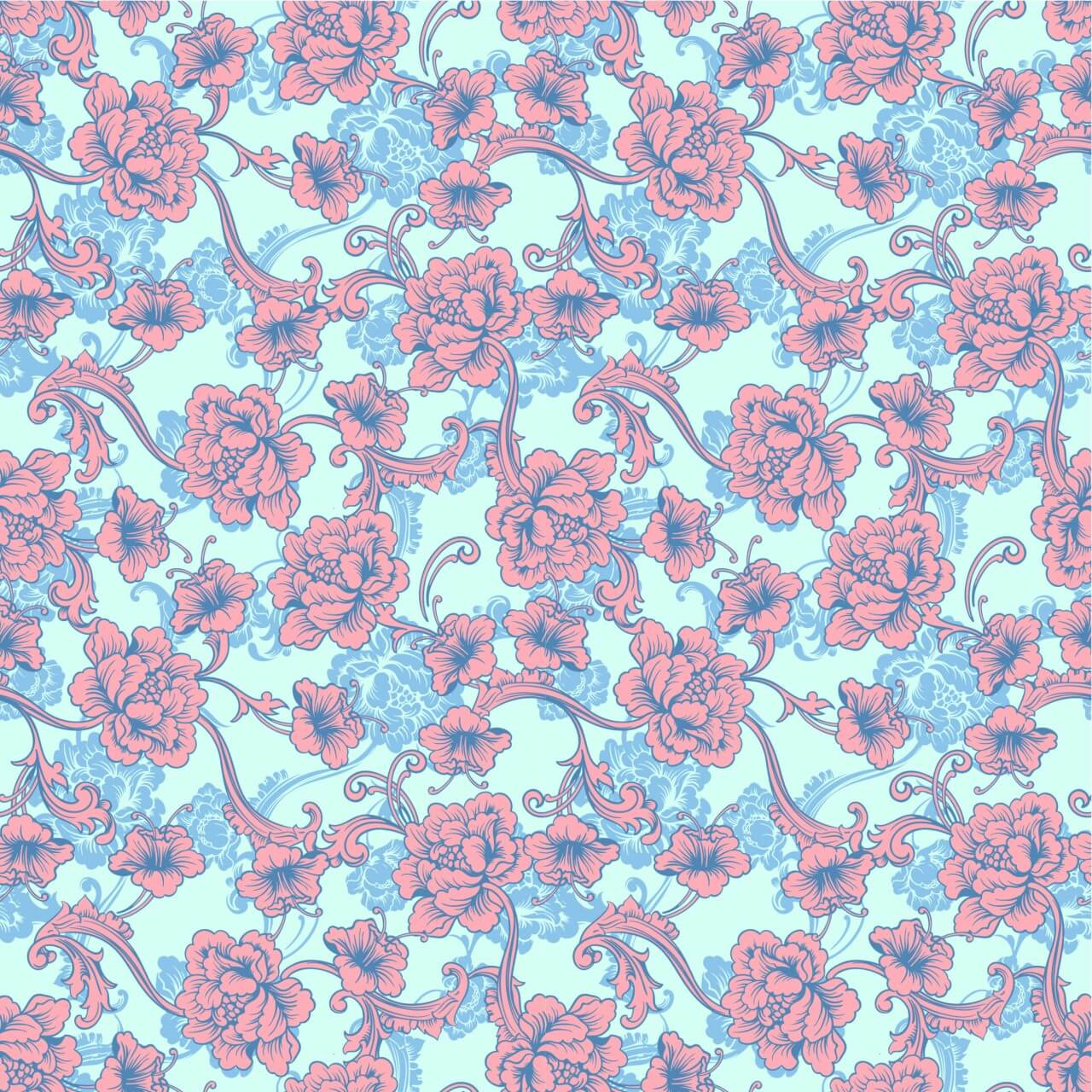 """Free vector """"Seamless vector background. Baroque pattern """""""