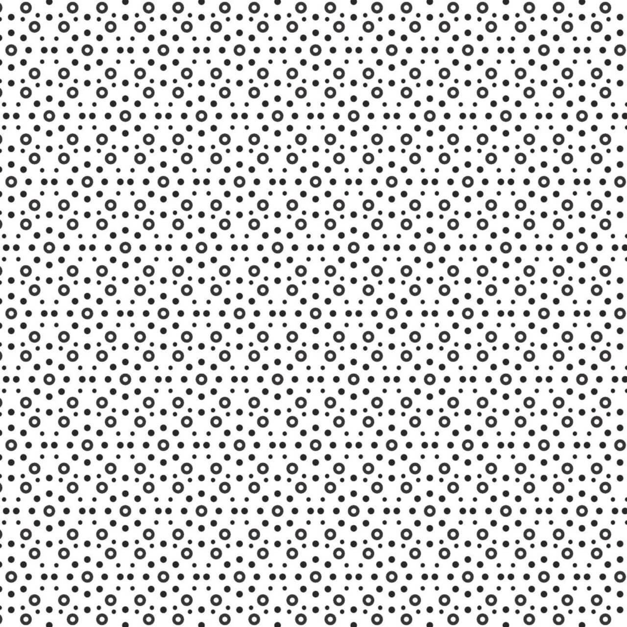"Free vector ""Circular Black and White Pattern"""