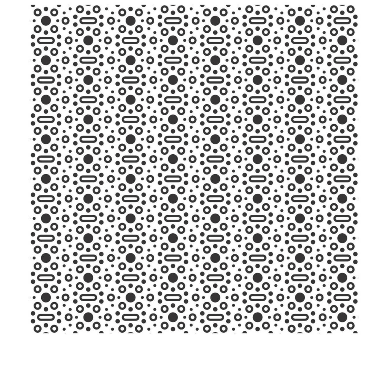 "Free vector ""Black and White Rounded Dot Pattern"""