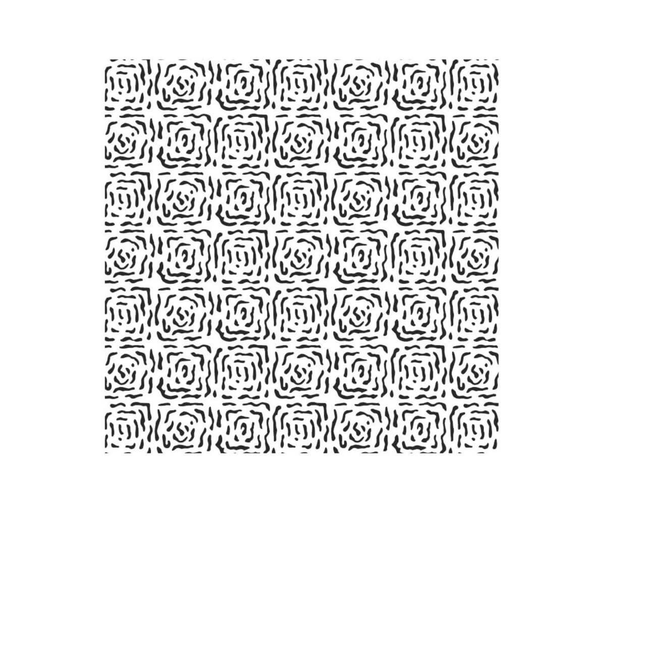 """Free vector """"Modern Hand Drawn Square Black and White Pattern"""""""