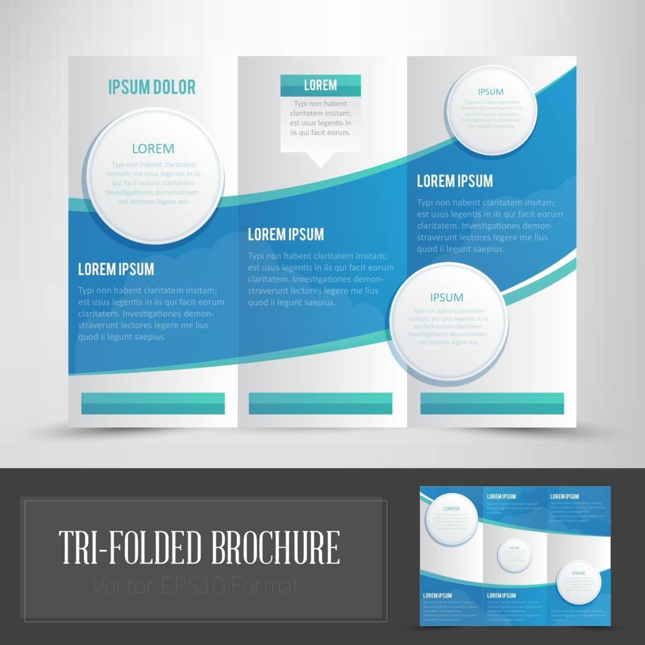 "Free vector ""Tri Folded Brochure"""
