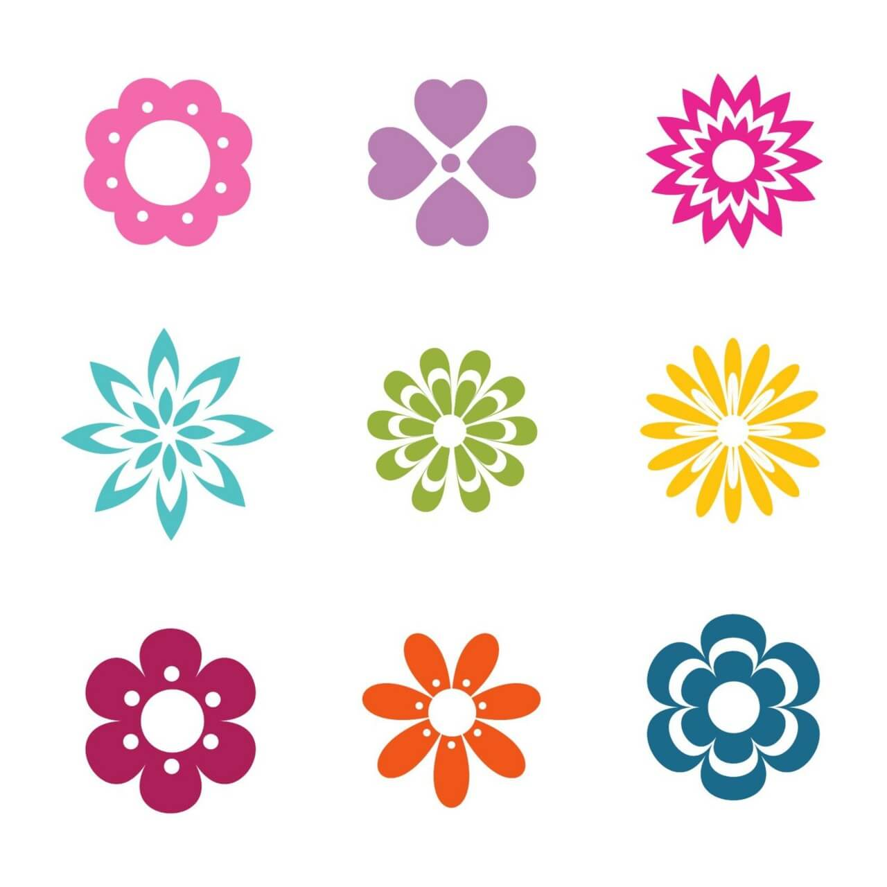 "Free vector ""Vector Flowers Icons"""