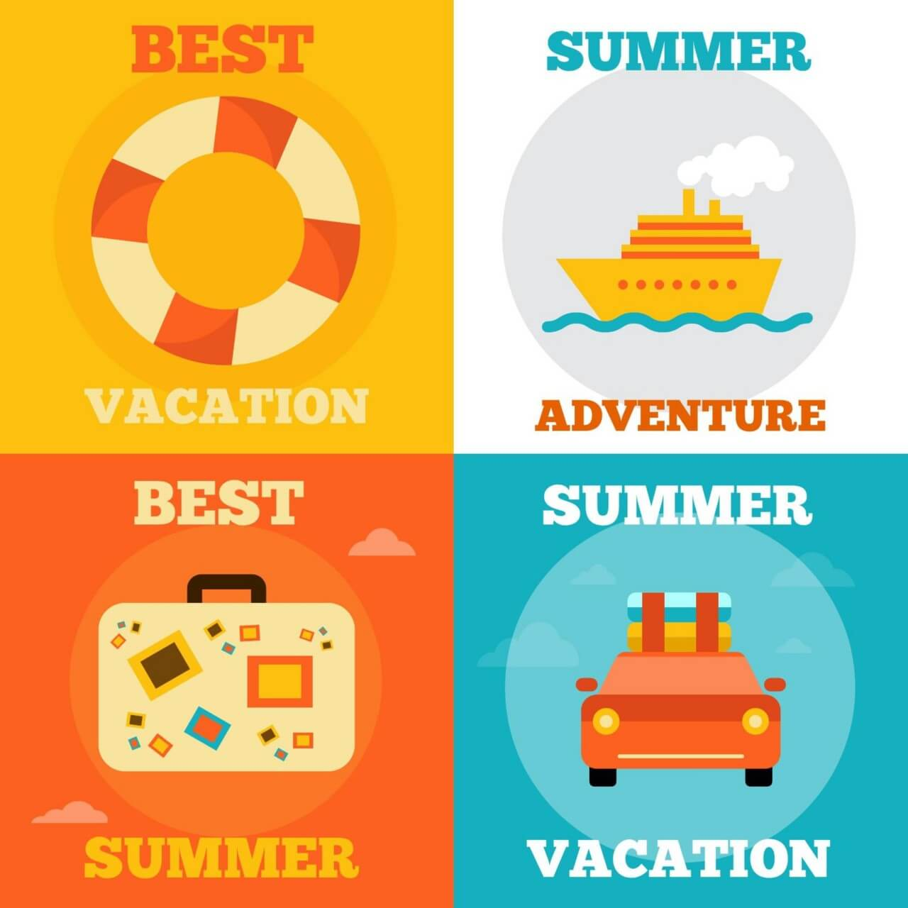 "Free vector ""Summer Vacation Icons"""