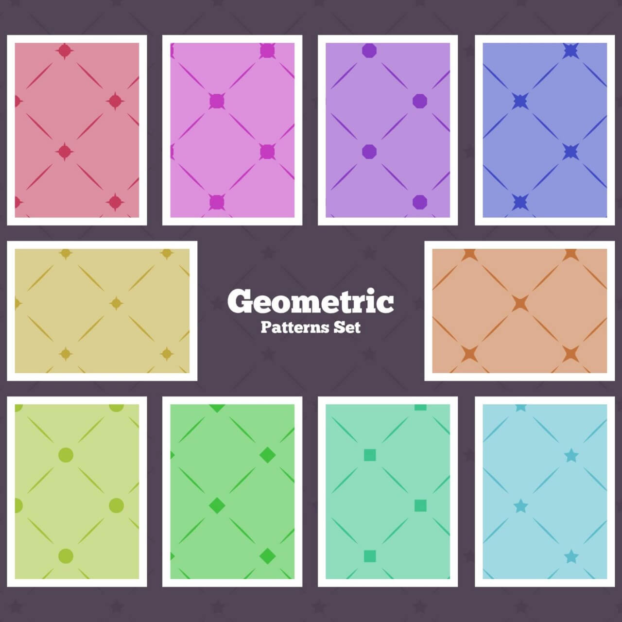"Free vector ""Seamless Geometrical Patterns"""