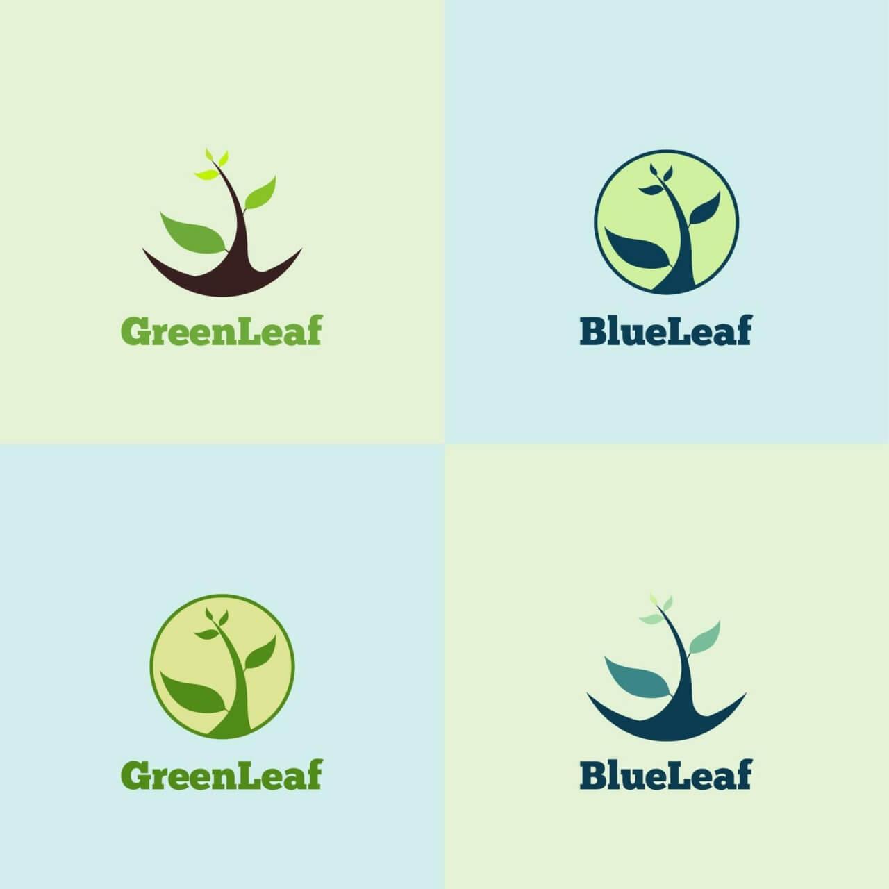 "Free vector ""Green Leaf Logo"""