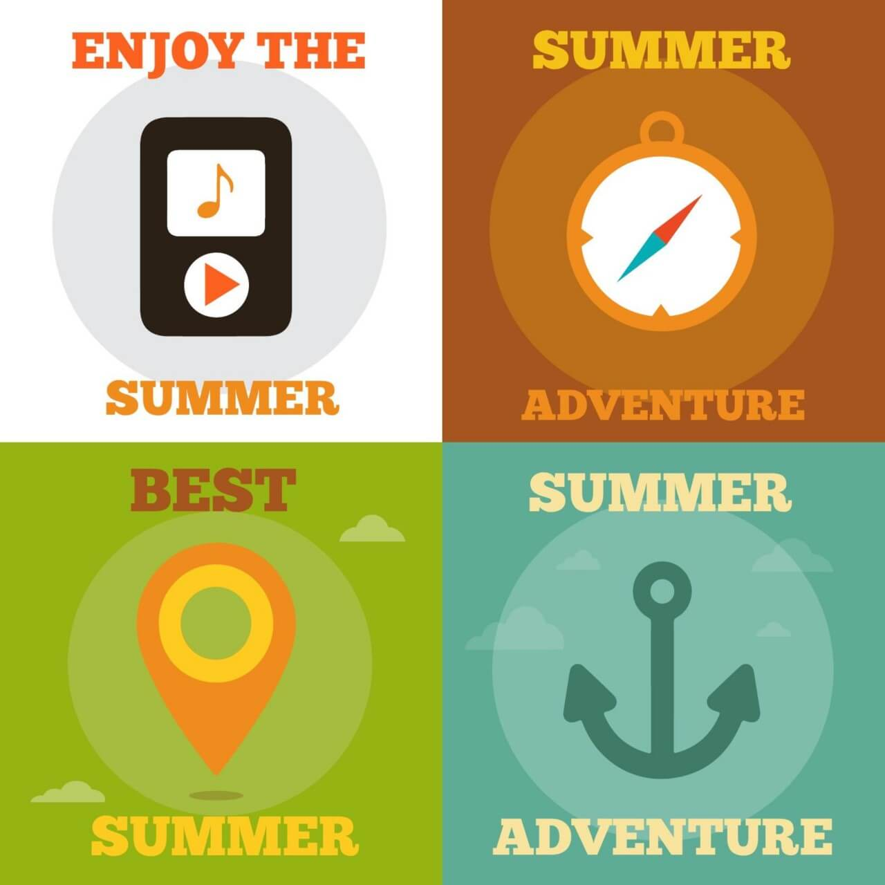 """Free vector """"Summer Activity Icons"""""""