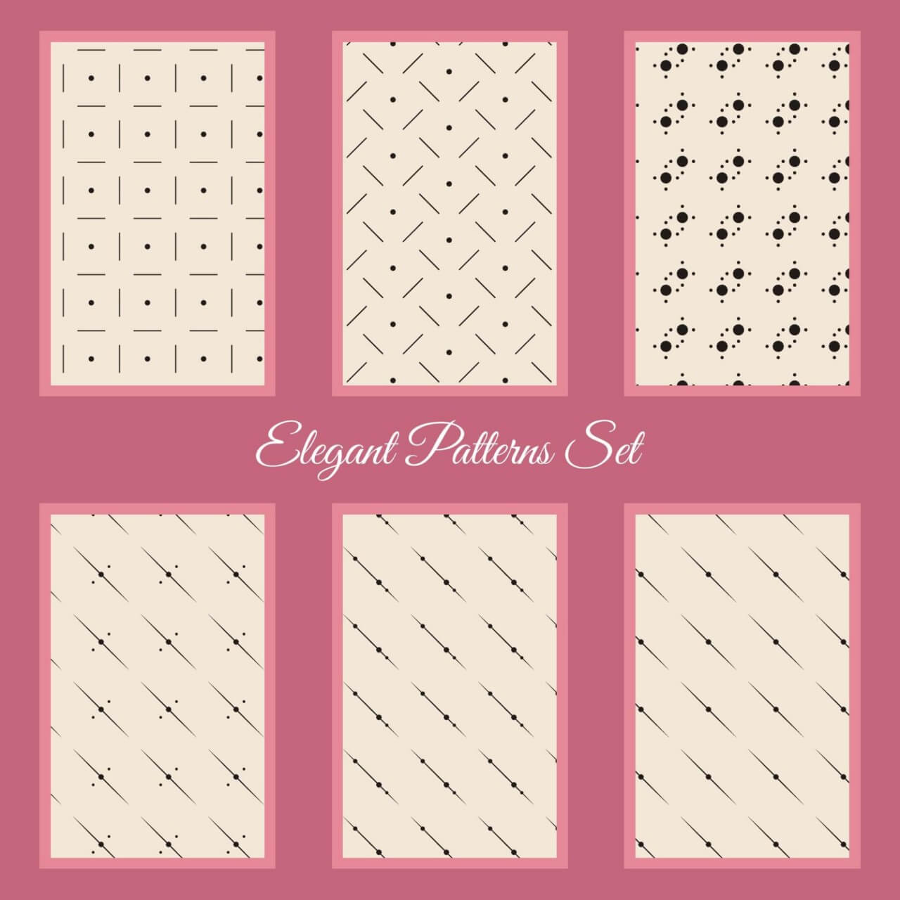 "Free vector ""Elegant Patterns Set"""