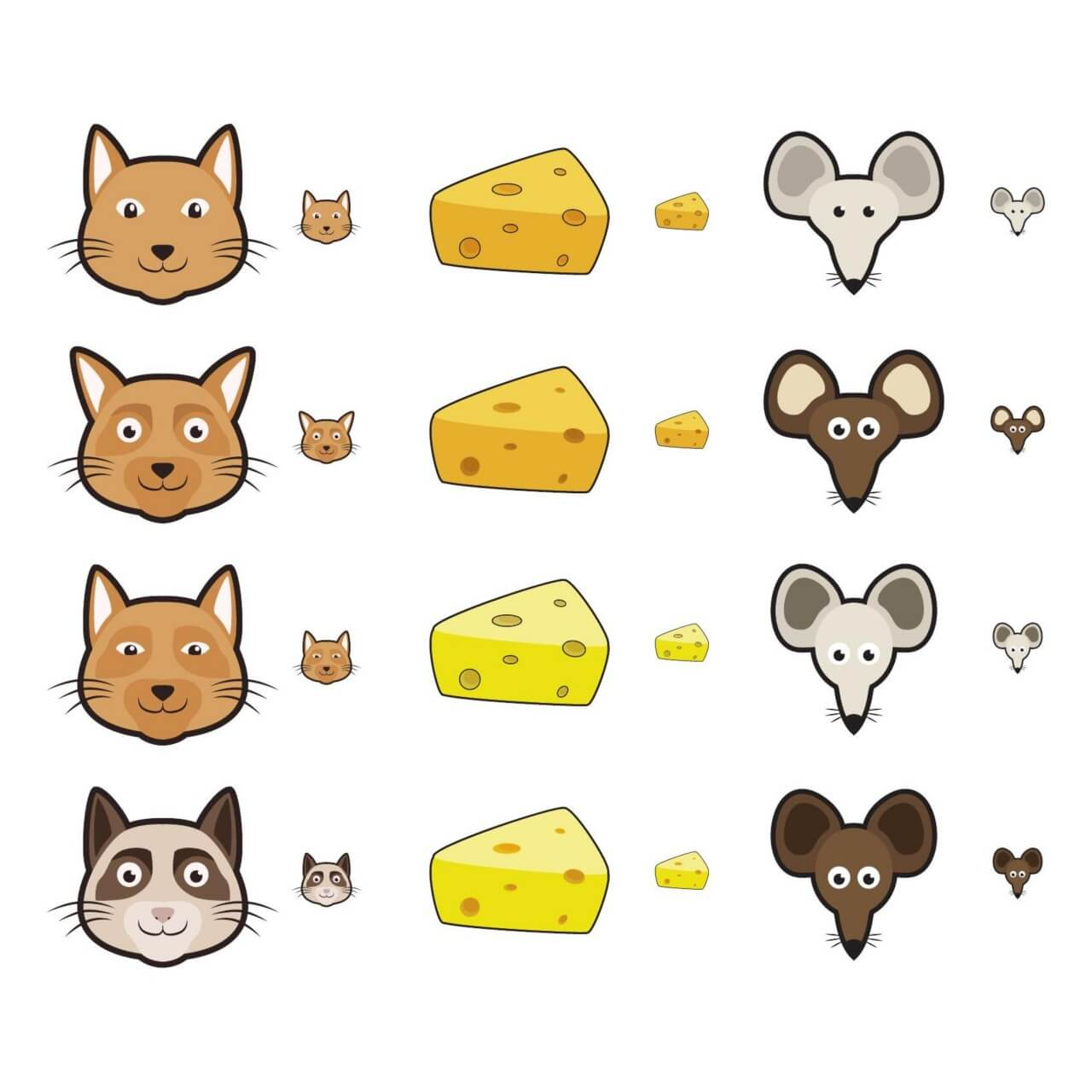 "Free vector ""Cat and Mouse Icons"""