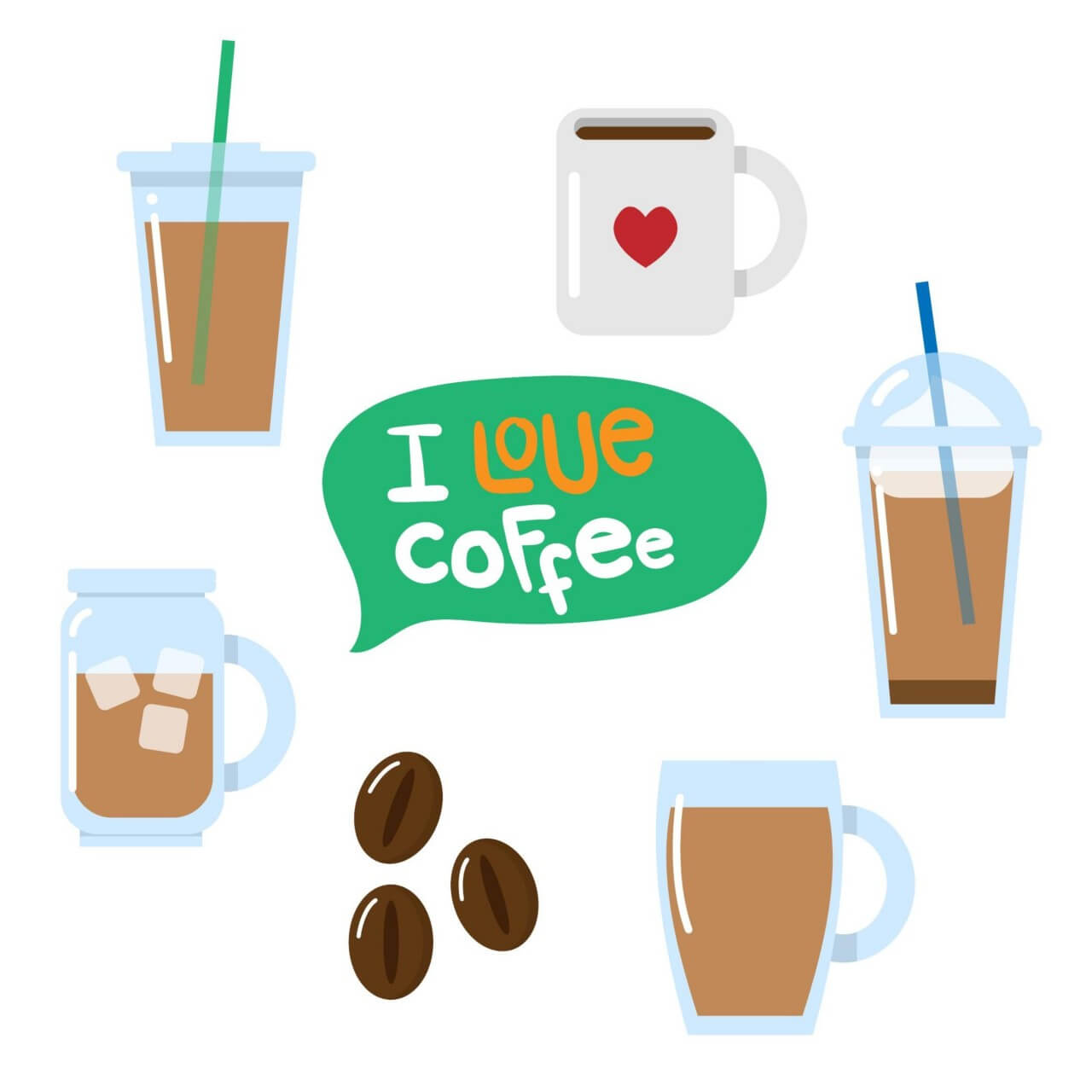 "Free vector ""Various coffee vectors"""