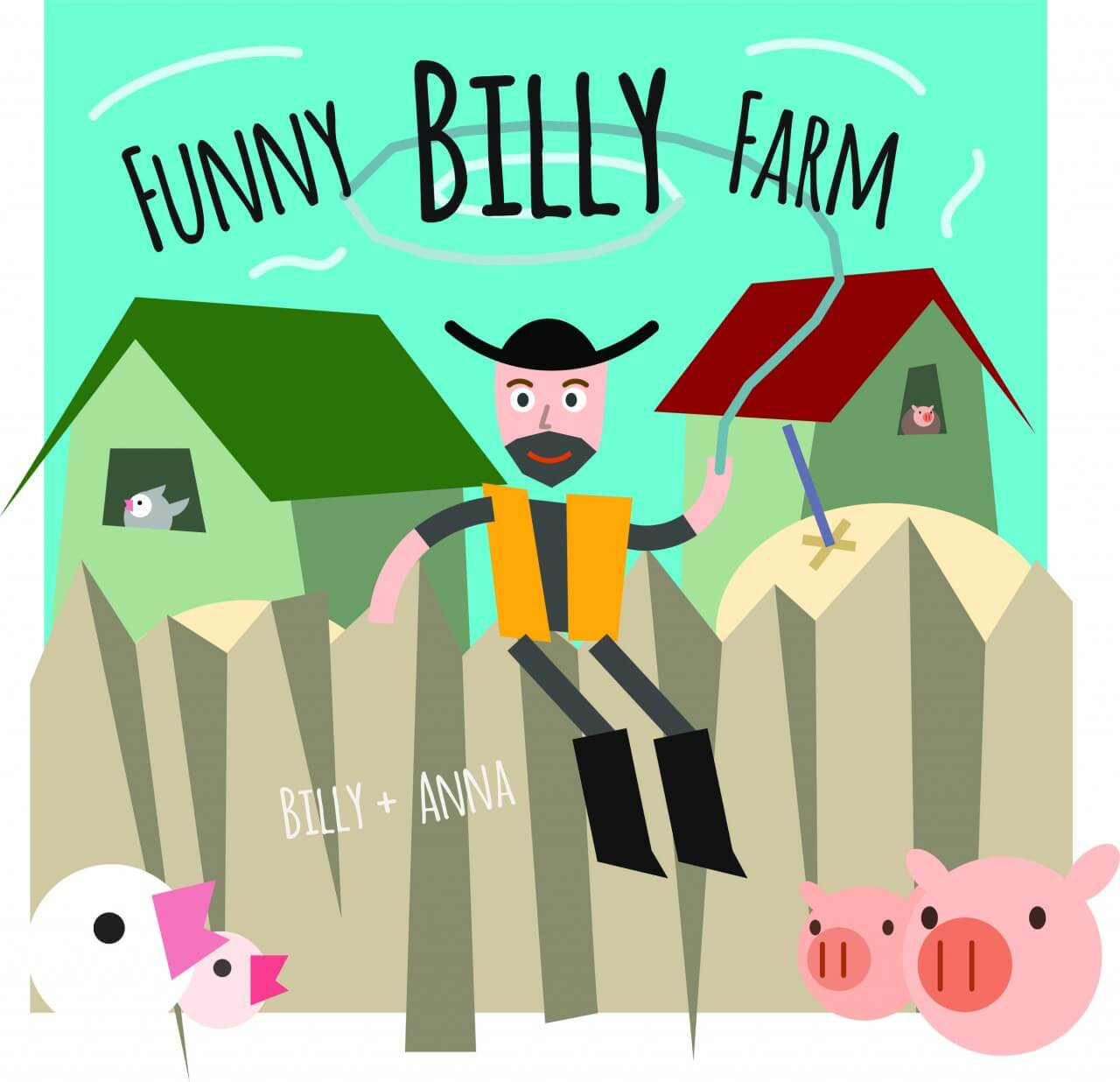 "Free vector ""Some farmer or cowboy character sitting on the fence. Free for vector design"""