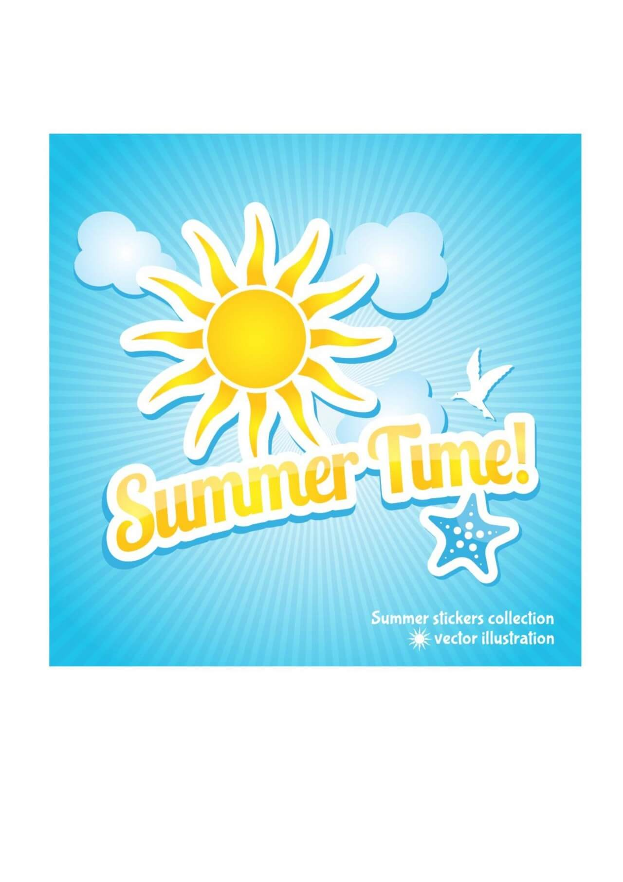 "Free vector ""Nature summer background"""