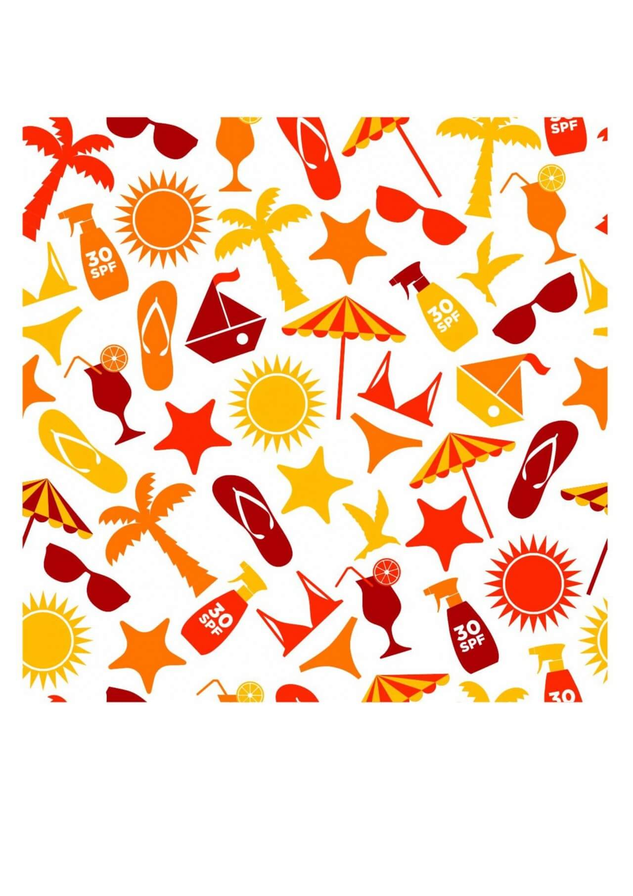 "Free vector ""Seamless pattern of summer"""